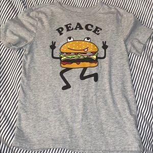 Large Gap Peace Burger Tee